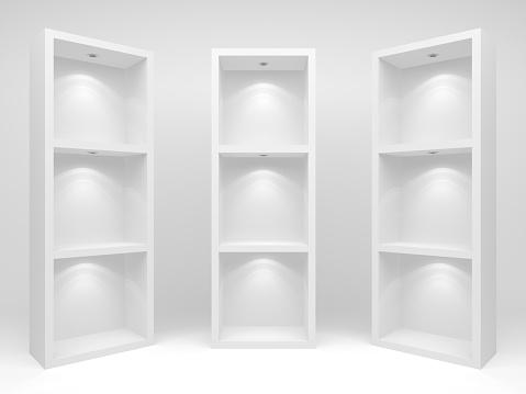 余白「3 d の空の棚」:スマホ壁紙(8)