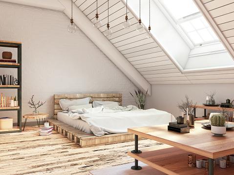Master Bedroom「Bedroom in Attic」:スマホ壁紙(15)