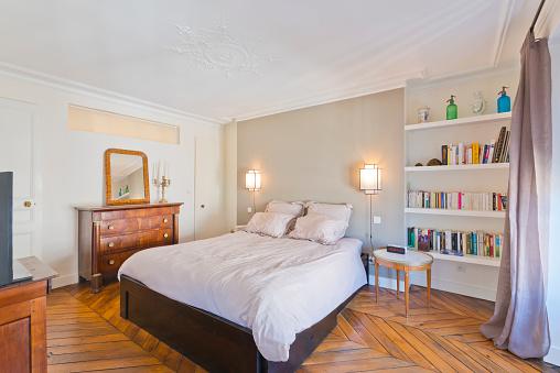 Bed - Furniture「Bedroom in modern studio apartments.」:スマホ壁紙(7)