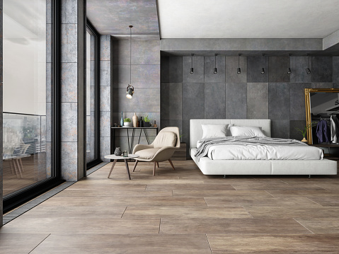 Copy Space「Bedroom In New Luxury Home」:スマホ壁紙(15)