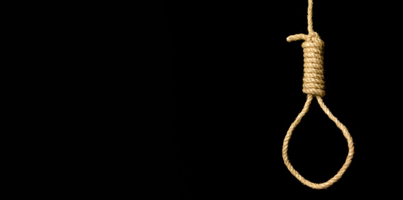 Threats「Hangman's noose on black background」:スマホ壁紙(17)