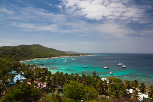 St「Mustique, St. Vincent, elevated view」:スマホ壁紙(5)