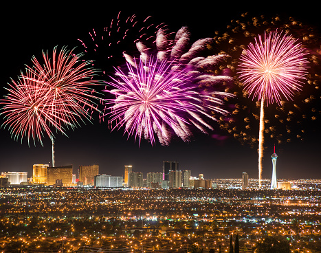 Independence Day - Holiday「Series of fireworks in Las Vegas for a national holiday」:スマホ壁紙(5)