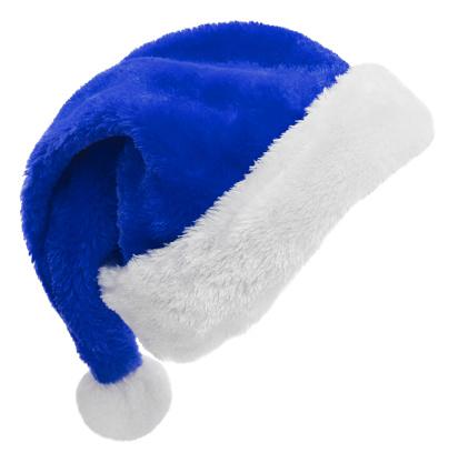 縁なし帽子「白のサンタ帽子 (青)」:スマホ壁紙(5)