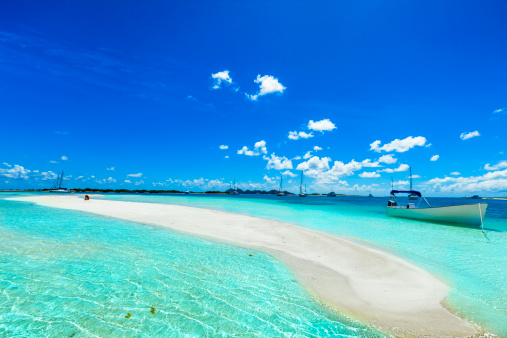 Cay「Tropical white sand cay beach in Los Roques Venezuela」:スマホ壁紙(16)