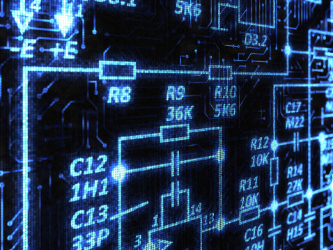 CPU「Technology background」:スマホ壁紙(15)