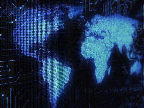 Binary Code「Technology world」:スマホ壁紙(19)