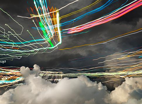 Internet of Things「5G Technology Light Trails」:スマホ壁紙(11)