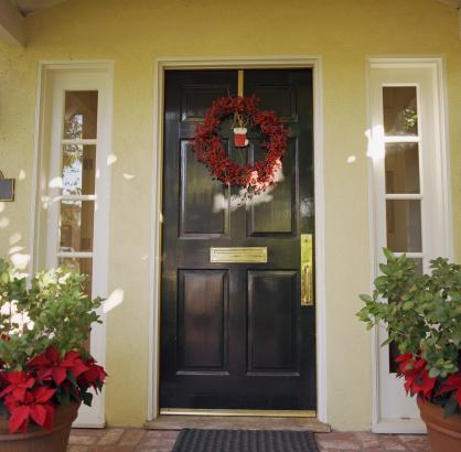 Front Door「Front door with wreath」:スマホ壁紙(7)