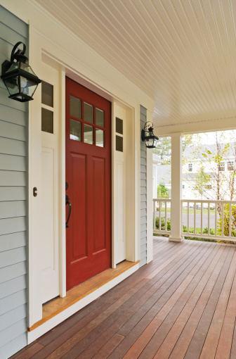 Concord - Massachusetts「Front door and porch of a newly built house」:スマホ壁紙(18)