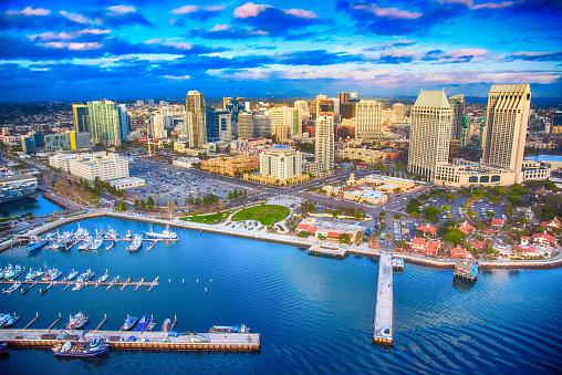 San Diego「Downtown San Diego Skyline Aerial」:スマホ壁紙(11)