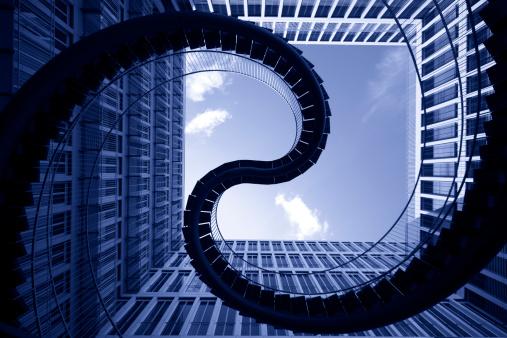 Munich「spiral stiars in front of modern architecture」:スマホ壁紙(5)