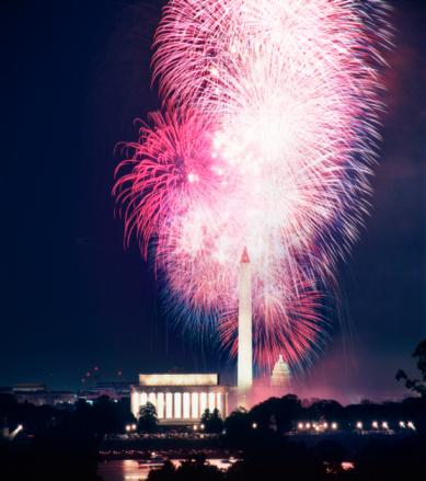 Fourth of July「Fourth of July fireworks over Washington Monument」:スマホ壁紙(18)