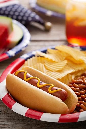 Fourth of July「Fourth of July Holiday Hot Dog Backyard Barbecue」:スマホ壁紙(9)