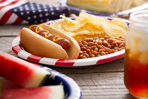 Fourth of July「Fourth of July Holiday Hot Dog Backyard Barbecue」:スマホ壁紙(9)