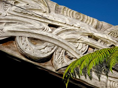 New Zealand Culture「Marae  Carved Detail」:スマホ壁紙(9)