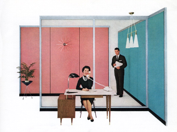 Working「1950s Secretary And Boss」:写真・画像(3)[壁紙.com]