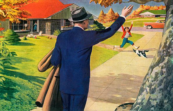 Family「1950s Husband Arriving Home」:写真・画像(3)[壁紙.com]