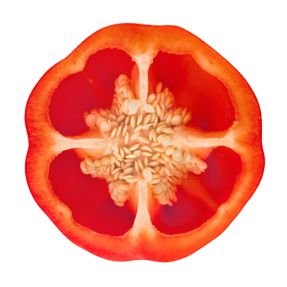 Bell Pepper「Red Bell Pepper Portion on White」:スマホ壁紙(11)
