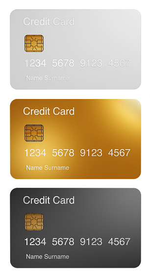 Credit Card「Three different credit card with microchip」:スマホ壁紙(18)