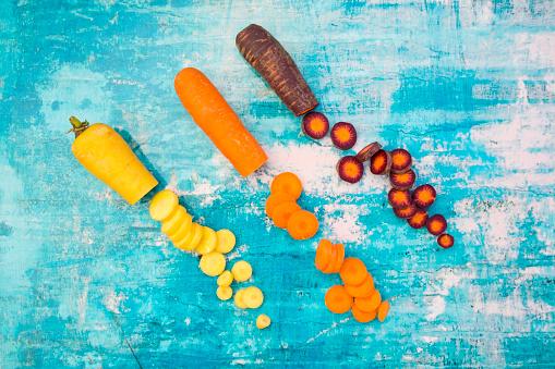 Carrot「Three different sorts of sliced carrots」:スマホ壁紙(3)