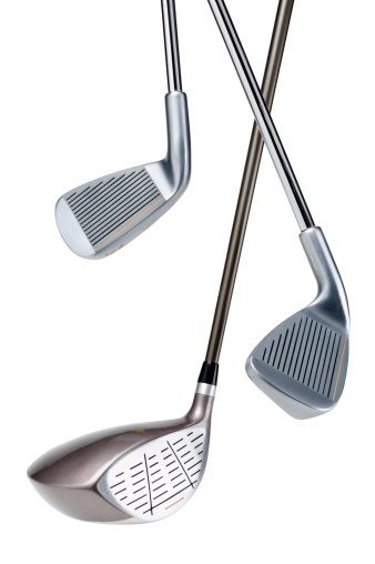 Lead「Three different types of golf clubs on a white background」:スマホ壁紙(19)