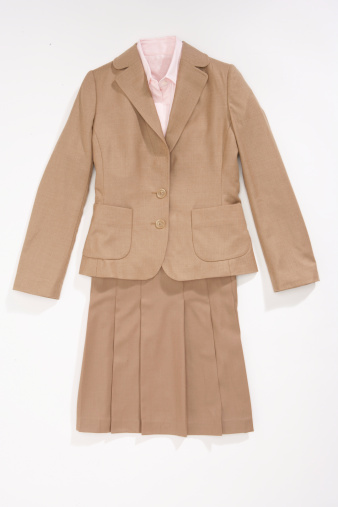 Blazer - Jacket「Blazer, button down shirt and skirt」:スマホ壁紙(8)
