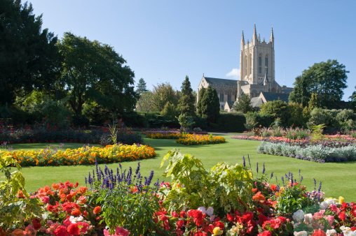 Abbey - Monastery「Bury St Edmunds Cathedral and Abbey Gardens」:スマホ壁紙(8)