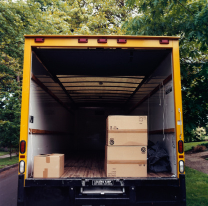 Part of a Series「Boxes in Back of Moving Van」:スマホ壁紙(4)
