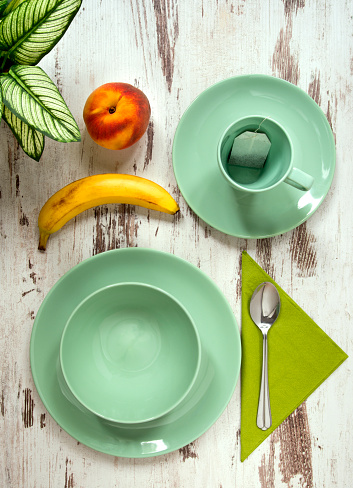 杏「混合穀物果物と緑の色を健康的な朝食、早朝。」:スマホ壁紙(8)