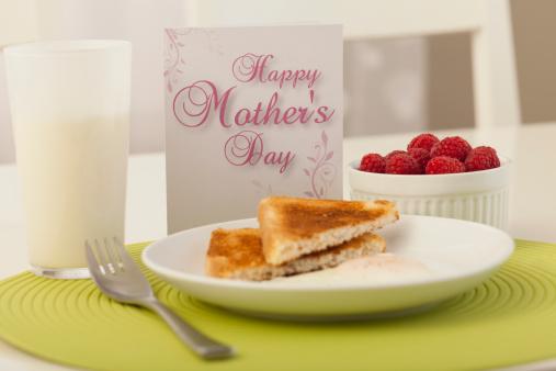 母の日「Healthy breakfast with Mother's day greeting card」:スマホ壁紙(9)