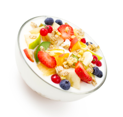 Kiwi「Healthy breakfast - Yogurt with fresh fruits and muesli」:スマホ壁紙(14)