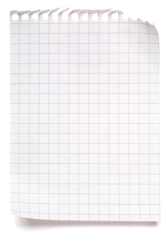 Design Element「Blank sheet of maths paper on white」:スマホ壁紙(11)