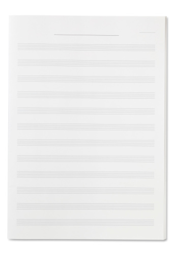 Document「Blank Sheet Music」:スマホ壁紙(9)