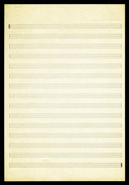 Blank Sheet Music paper textured background:スマホ壁紙(壁紙.com)