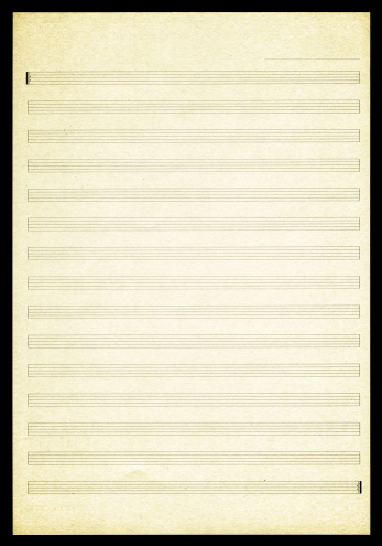 Manuscript「Blank Sheet Music paper textured background」:スマホ壁紙(3)