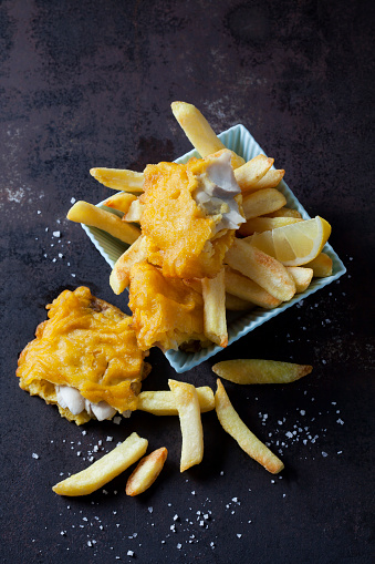 Rusty「Fish and chips with lemon slice」:スマホ壁紙(5)