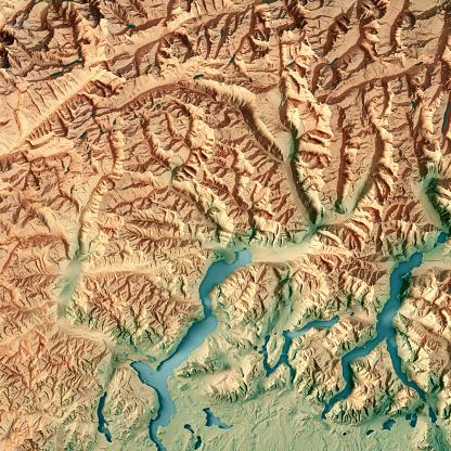 ティチーノ州「ティチーノ州カントンのスイス連邦共和国の 3 D 地形図を表示します。」:スマホ壁紙(12)