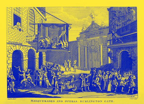 Earl King「Masquerades and Operas  - Burlington Gate  by William Hogarth 1723」:写真・画像(3)[壁紙.com]