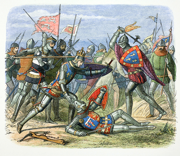 Battle「Henry V Of England Attacked By The Duke Of Alencon At The Battle Of Agincourt 1415 (1864)」:写真・画像(10)[壁紙.com]
