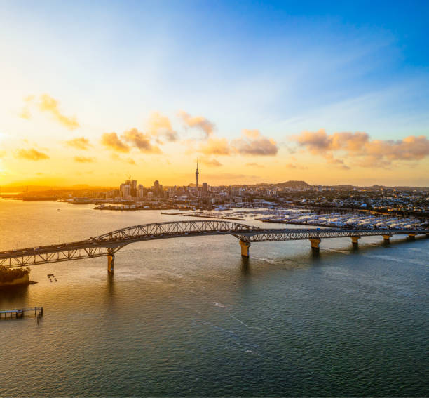 Auckland at dawn:スマホ壁紙(壁紙.com)