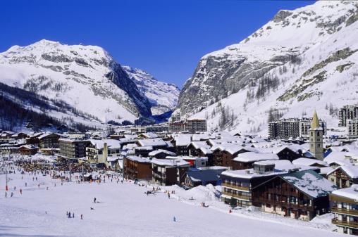 Ski Resort「Val-d'isere ski resort, Savoie, France」:スマホ壁紙(1)