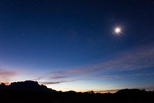 Starry sky「Kofa mountains silhouette」:スマホ壁紙(16)