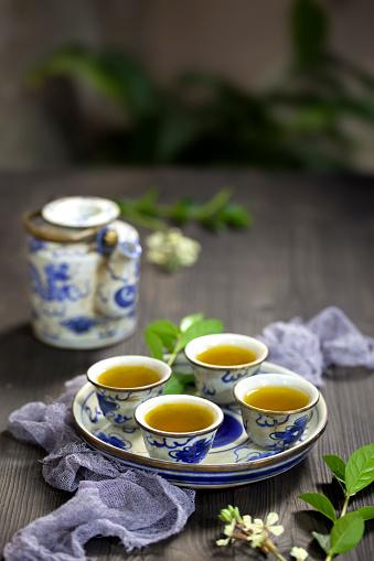 Teapot「Chinese tea and tea set on the table」:スマホ壁紙(15)