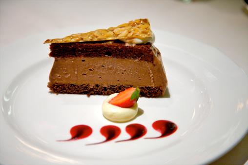 Praline「Slice of chocolate torte on plate」:スマホ壁紙(9)