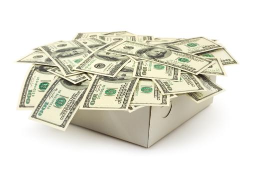 Economic fortune「Money in box」:スマホ壁紙(18)