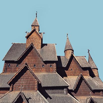 ノルウェー「Heddal Stave church, Folkestien, Telemark, Norway」:スマホ壁紙(9)