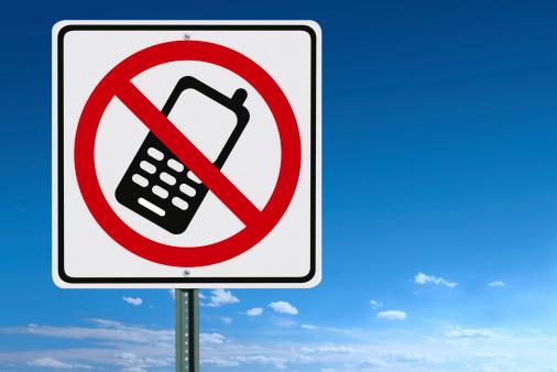 Forbidden「No Cell Phone Sign」:スマホ壁紙(12)