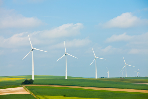 France「France, Rocroi, Wind turbines on fields」:スマホ壁紙(13)