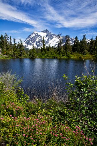 Cascade Range「Mount Shuksan in summer, WA, USA」:スマホ壁紙(6)
